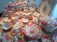 ROYAL ALBERT ' LADY CARLYLE ' TEA SET & TABLEWARE - ENGLISH BONE CHINA