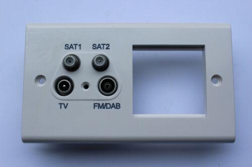DETA Slimline S1342 Blanc 2 G quadplexer Outlet 2 m EUROMODULE Supports De Données Plaque