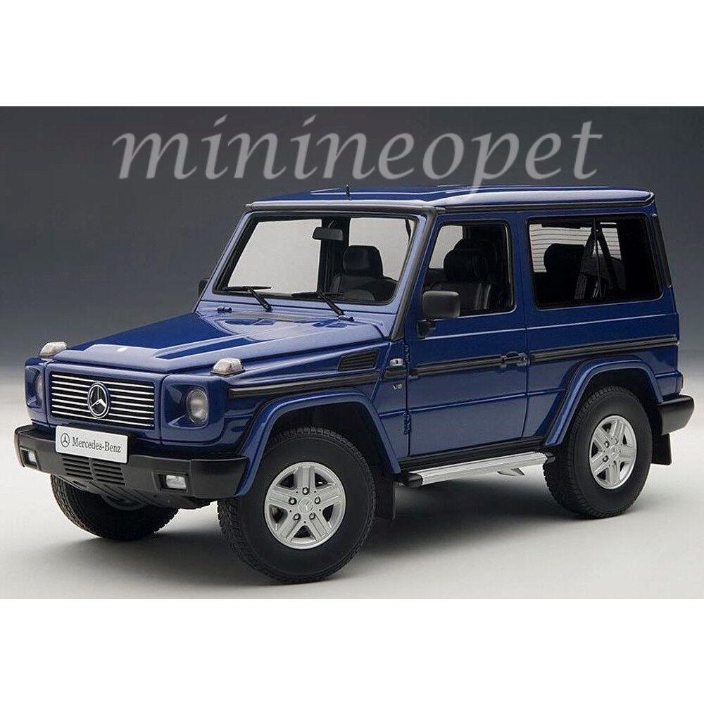 AUTOART 76114 1998 Mercedes Benz G Classe 500 Swb 1 18 Voiture Modèle bleu