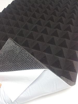 SELBSTKLEBEND Akustik Schaumstoff Dämmung Akustikpur Pyramidenschaumstoff 5cm