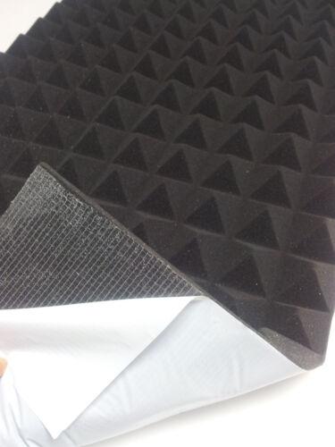 Pyramiden Schaumstoff SELBSTKLEBEND Dämmung Akustik Schallschutz 99 x 99 x 6 cm