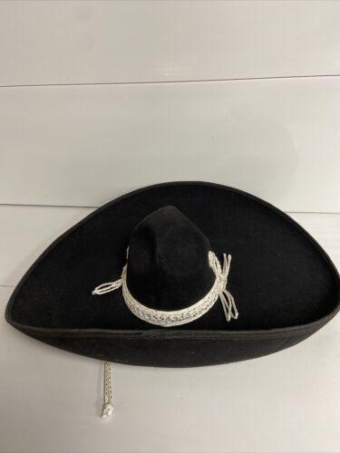 Black Vintage Salazar Pigalle Sombrero Hat