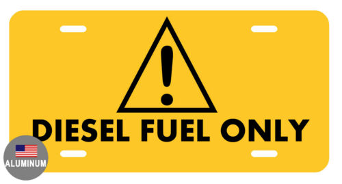 LICENSE PLATE DIESEL FUEL DURABLE ALUMINUM HIGH QUALITY FULL COLOR GLOSS LP#0012