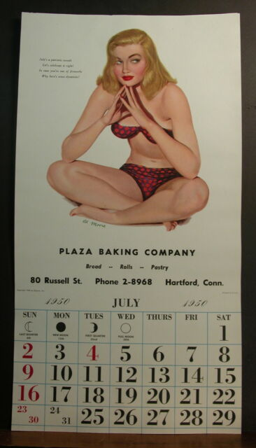 Al Moore July 1950 Esquire Calendar Out of Fireworks? Here's Some Dynamite