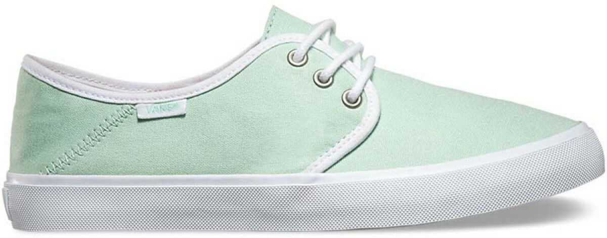 Vans Off the Wall Tazie SF Gossamer Green White Womens Ankle Boots 9.5 shoes