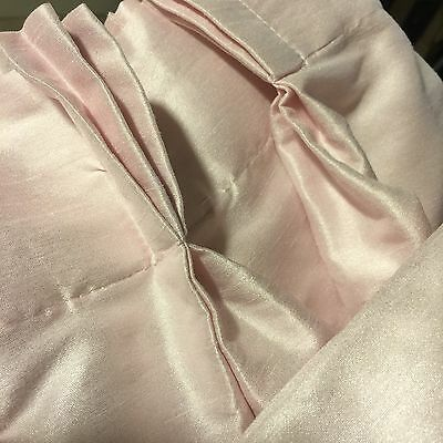 Shabby Chic Brand Grandmas Estate Pink Shantung Washable Lined Drapes (Mia)