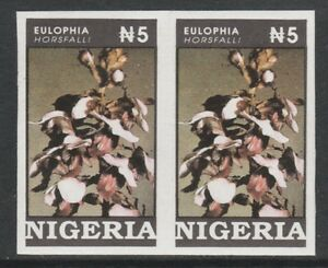 Nigeria 3877 - 1993 ORCHIDS 5n IMPERF PAIR unmounted mint