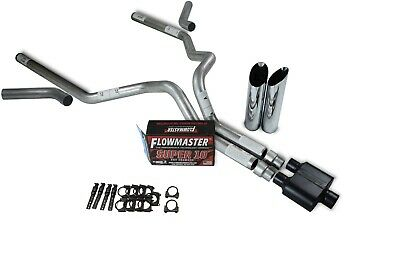 F150 95-97 dual exhaust 2.25 pipe 1 chamber muffler SW Tip Corner exit