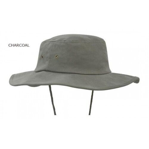 Bucket Hat Brushed Cotton wide brim for sun protection BRAND NEW