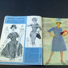 Modezeitschrift GÜNTHER MODEN 10/1959 - 2 Schnittmuster-Bg 50er Jahre ELEGANT