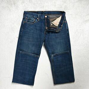 Homme-jeans-levis-514-taille-W31-L32-Slim-Fit-Coupe-Droite-Bleu-Fonce-Denim-Pantalon