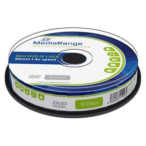MINI-DVD-R-MediaRange-1-4GB-8cm-4X-Tarrina-10-uds