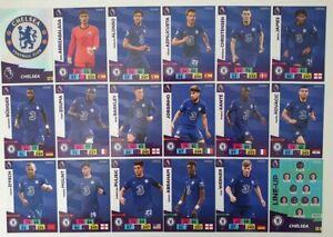 2020/21 PANINI Adrenalyn EPL Soccer Cards - Chelsea Team Set (18 cards)