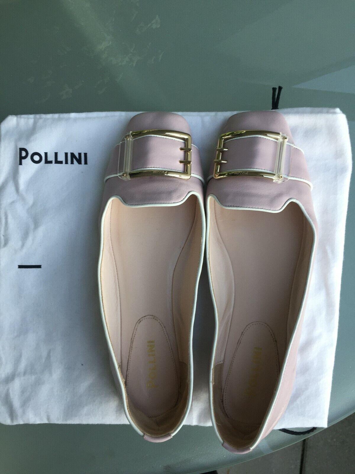 Damenschuhe Orignal Pollini , Ballerina,Rosa Kalbleder, Spange,Gr. 40,neuwertig