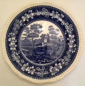 Antique-Blue-Copeland-Spode-039-s-Tower-Luncheon-Dinner-Plate-1-ONLY-England-Old