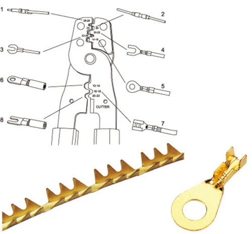 HS-202B fonctionnel Portable Main Outil De Sertissage Pince terminaux crimpper OK