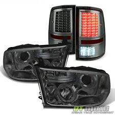 [SMOKE] 2009-2017 Ram 1500 2500 Pickup Projector Headlights+Full LED Tail Lights