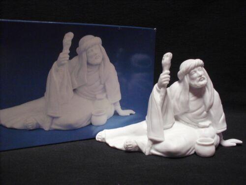 Avon Nativity Collectibles THE POOR MAN White Porcelain Bisque Figurine