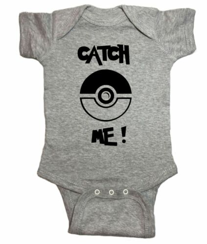 "Pokemon One Piece /""Catch Me Pokeball Pokemon Go/"" Baby Bodysuit"