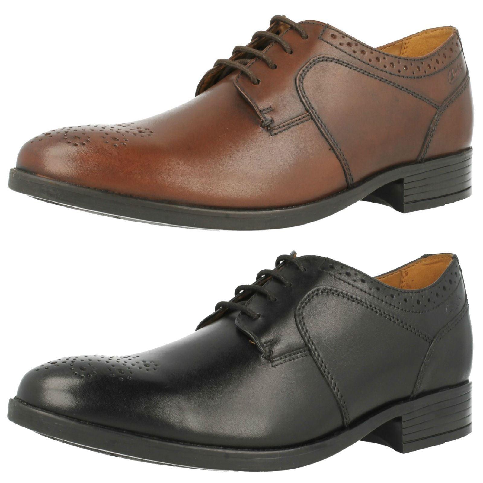 Mens Clarks Semi Brogue Formal Shoes Kalden Edge
