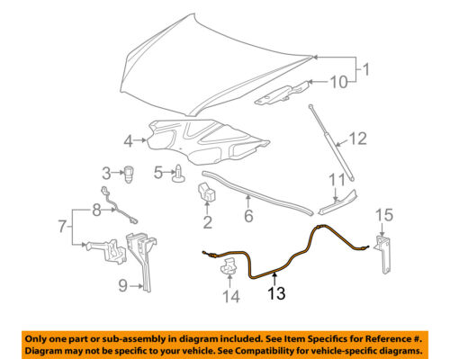 GM OEM Hood-Release Cable 10311086
