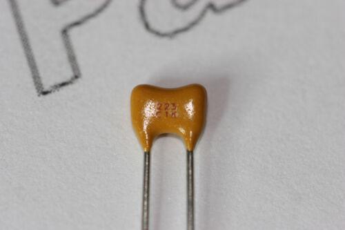 100x AVX 22nF 100V Multilayer Ceramic Capacitors X7R Radial AVXSR201C223KAR