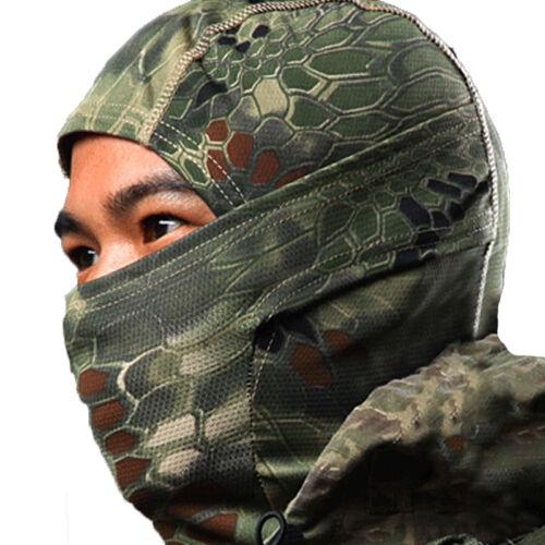 Schlangenmuster Camouflage Motorrad Sturmhaube Sturmmaske Outdoor Balaclava DE