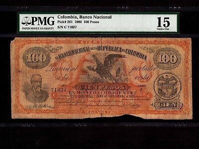 Reproduction Colombia 100 pesos 1910 UNC