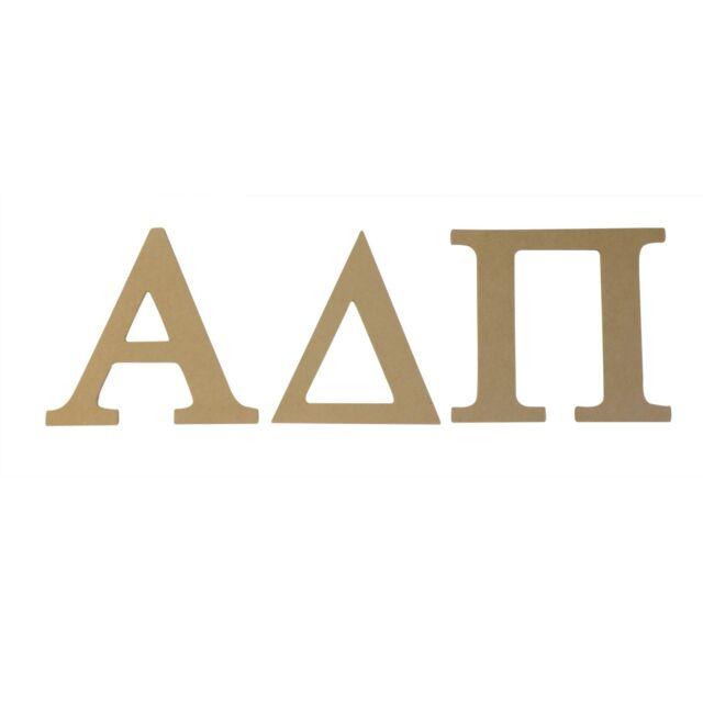 "Alpha Xi Delta 8/"" Round Monogram Wood Letter Set"