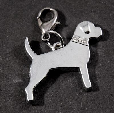 Dog 4 Charms Schlüsselanhänger Hund farbig Schlüsselring Beagle