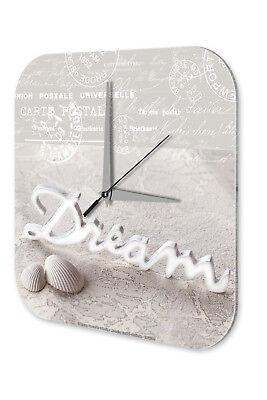 Affidabile Orologio Da Parete Sogno Spiaggia Muro Decorazione Acrilico Orologio Vintage Nostalgia- Materiali Superiori