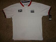 Team USA Olympics Sochi 2012 Sz Large White Short Sleeve Polo Shirt NEW W/ TAGS
