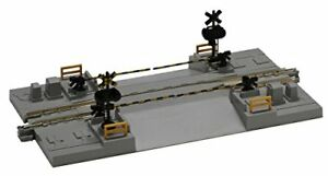 KATO-N-gauge-railroad-crossing-line-2-124mm-20-027-model-railroad