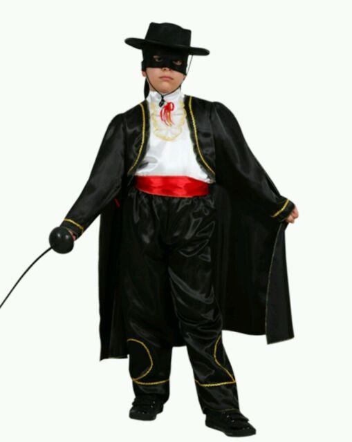 Abito da carnevale bambino,costume in maschera,vestito di carnevale ZORRO