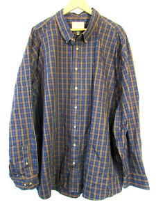 new-Cabela-039-s-Men-039-s-Outfitter-Series-100-Cotton-Plaid-Long-Sleeve-Shirt-4XL-Tall