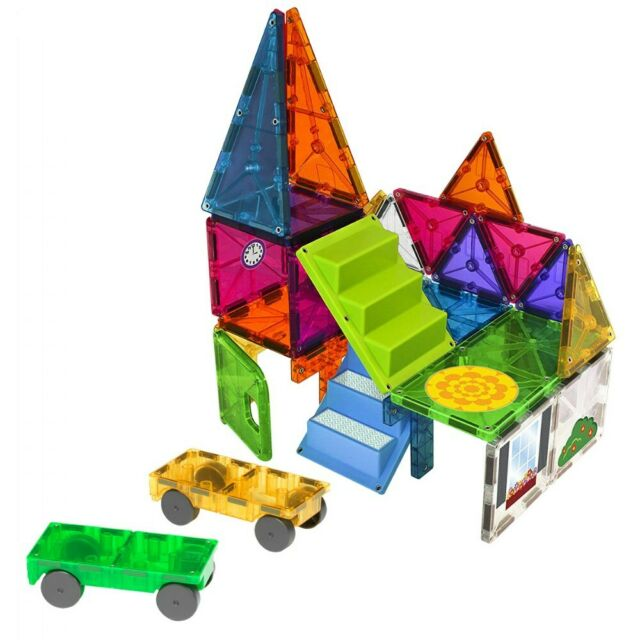 Car Toys Lewisville: Magna-Tiles 28 Piece Mixed Colors House And Car Expansion