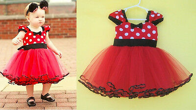 Girl Kids Toddler Newborn Baby Party Polka Dot Dresses Layered Tutu Clothing