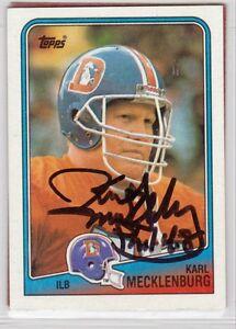 Denver-Broncos-KARL-MECKLENBURG-autograph-signed-1988-TOPPS-card-MINNESOTA