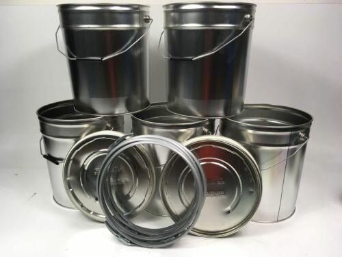 Spannring Eimer Metalleimer Blecheimer 5x 20 Liter Eindrückdeckeleimer