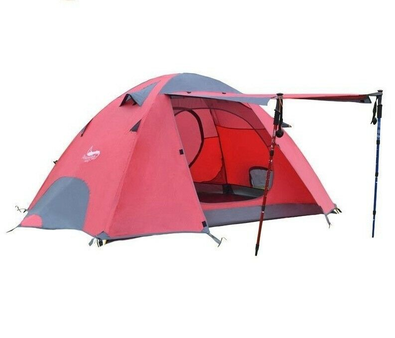 Portable Waterproof Tents For Outdoor Camping Canopy Double Layer Large Shelter