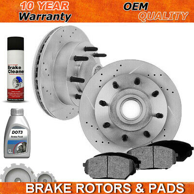 Front Rear Ceramic Brake Pads 08-14 E150 E250 08-15 E350 With Sigle Rear Wheels