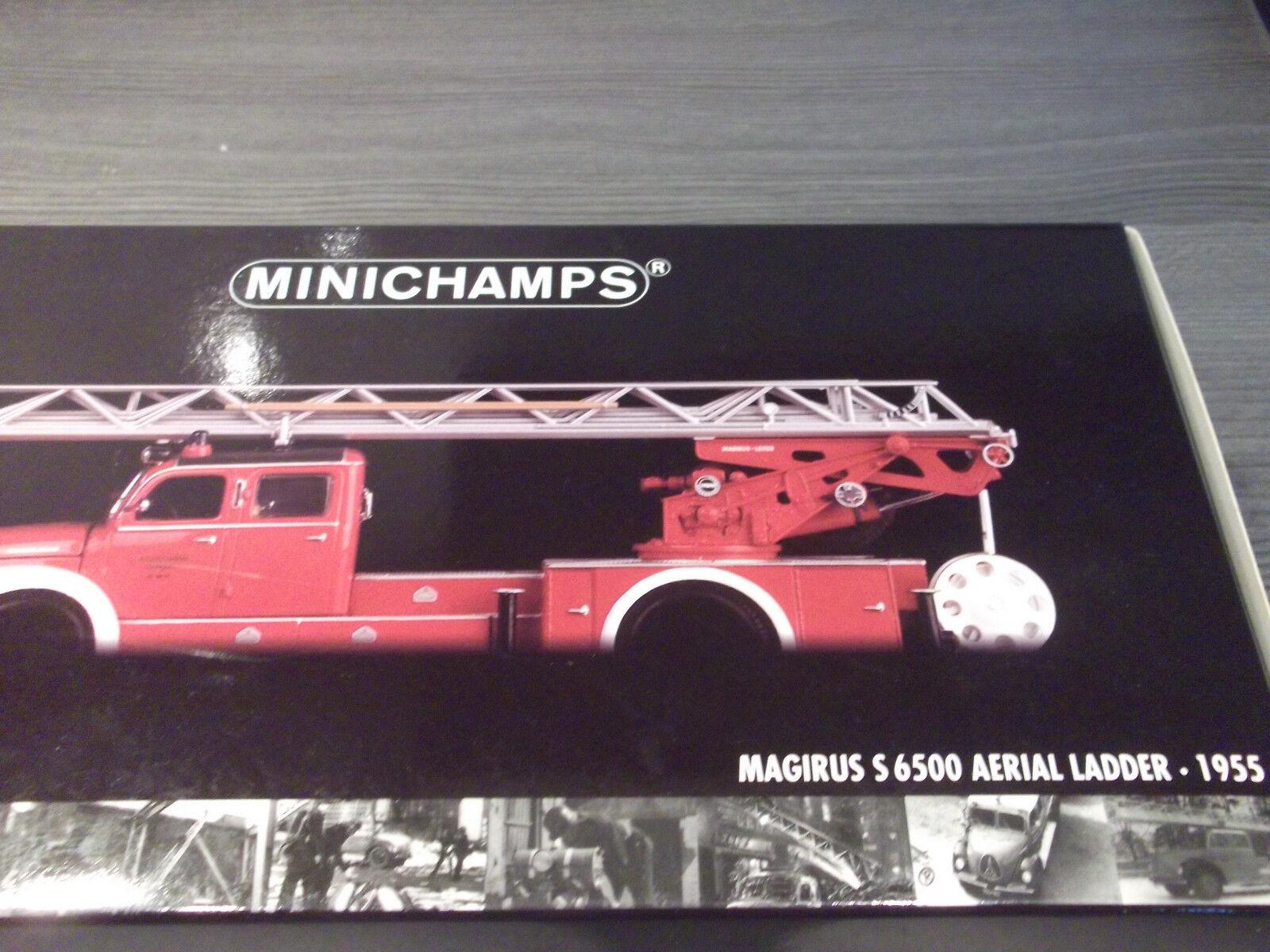 MINICHAMPS MAGIRUS S 6500 Aerial Ladder 1955 Feuerwehr Stuttgart  mit OVP 1 43  | Helle Farben