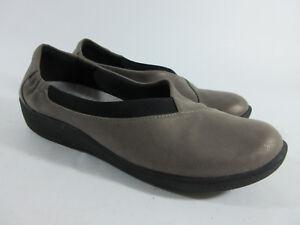 Clarks-Cloud-Steppers-Sillian-Jetay-Womens-Size-9-5-M-Slip-On-Loafer-Pewter-Shoe