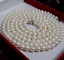 Natural-7-8mm-White-AAA-Freshwater-CULTURED-Round-Pearl-Necklace-36-039-039 thumbnail 2