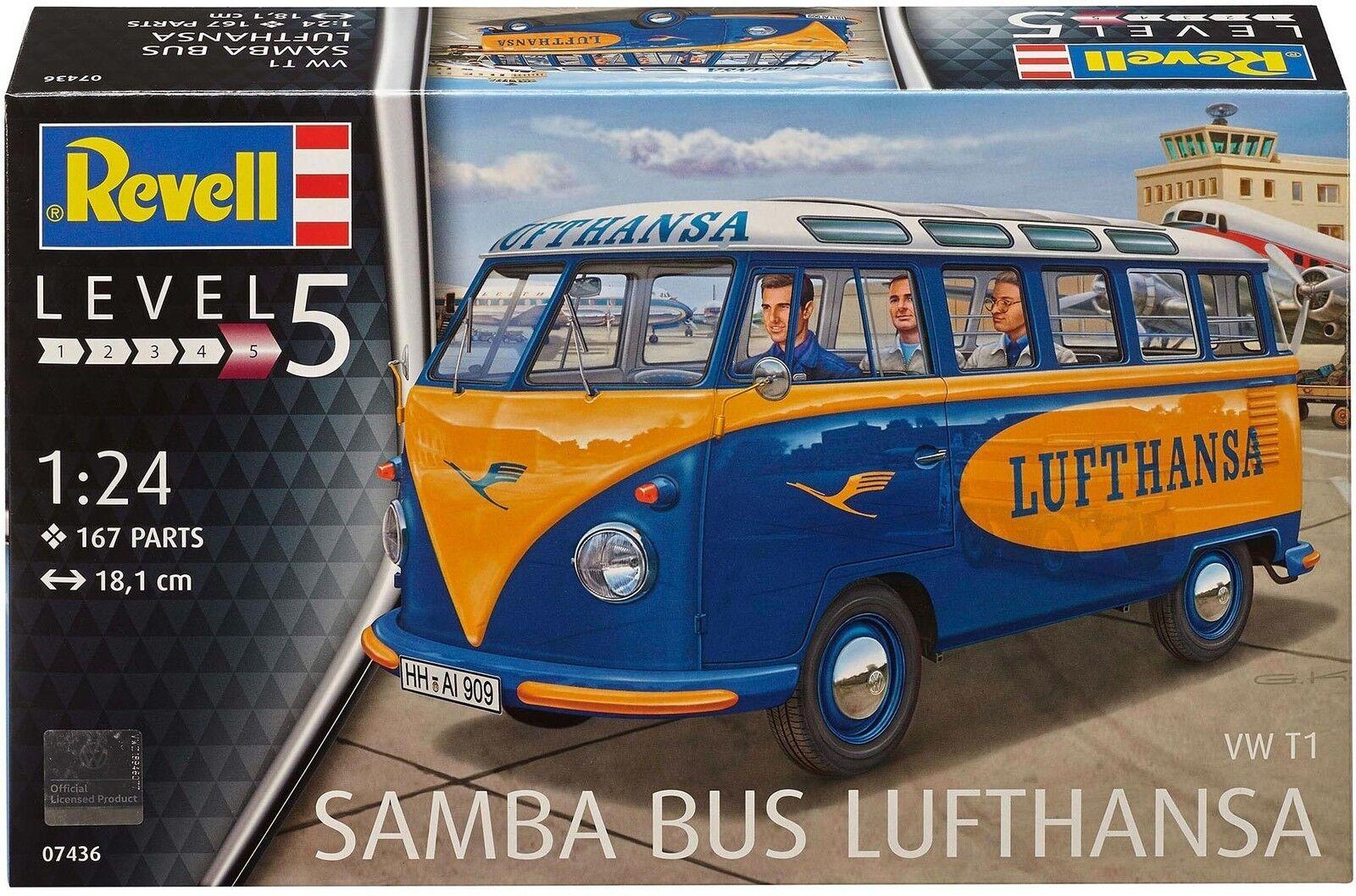 OLDTIMER 1 24 Revell 07436  VW T1 Samba Bus   Lufthansa