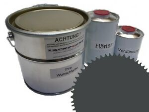 3 Liter Set 2K Floor Color Floor Ral 7043 Vinyl-Epoxid-Lack Lackpoint Shine