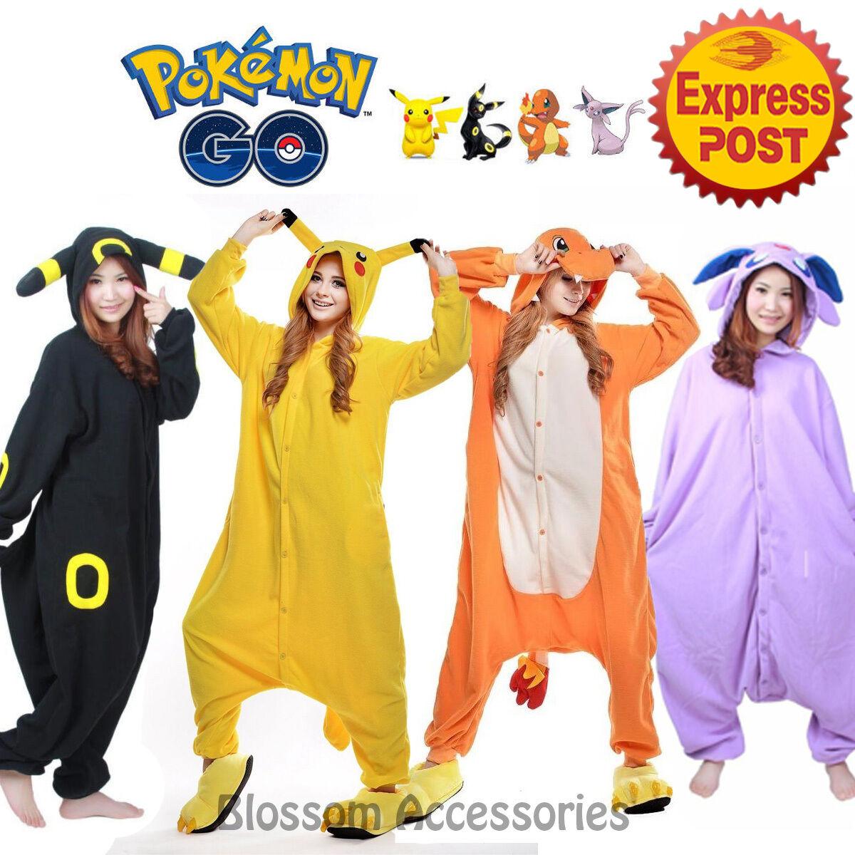Pokemon Go Animal Onesies Adult Unisex Kigurumi Cosplay Costume Pyjamas