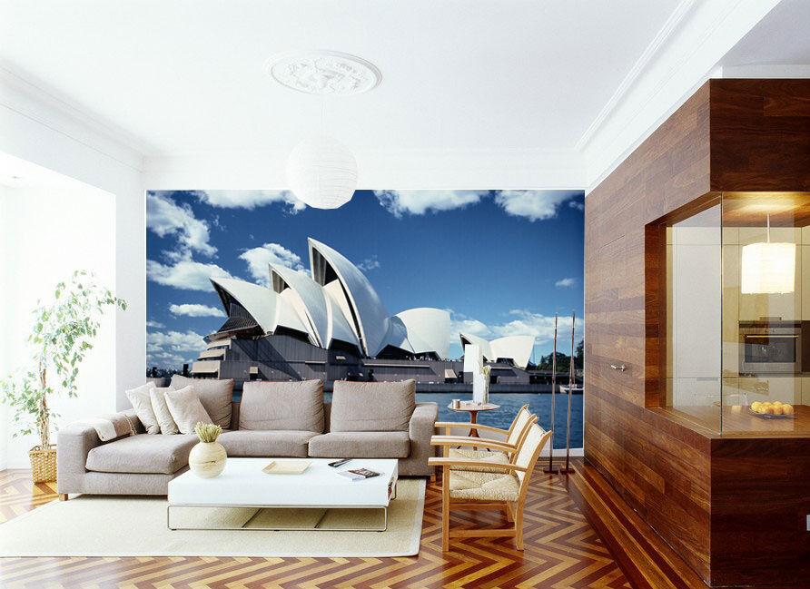 3D Sydney Opernhaus Fototapeten Wandbild Fototapete Bild Tapete Familie Kinder