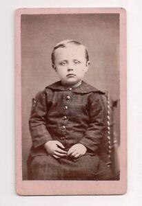 Vintage-CDV-Sombre-little-Boy-Photo-by-J-D-Gebhart-Olathe-Kansas