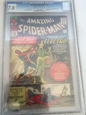 Amazing Spiderman #9 CGC 7.0 Stan Lee Steve Ditko 1st Electro free shipping